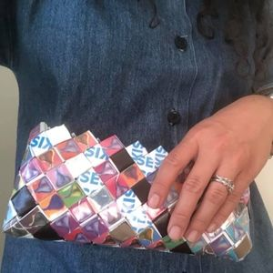 Handbags - Women's Recycle Candy Wrapper Clutch